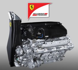 Ferrari 150 Italia Engine (courtesy: ferrari website)