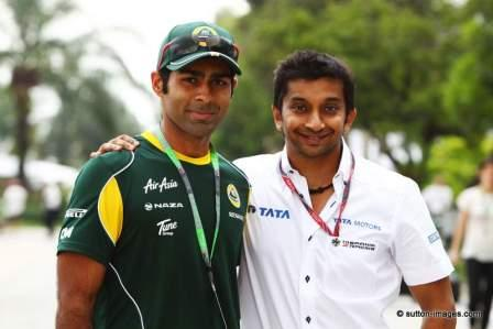 Karun Chandhok and Narain Karthikeyan (Courtesy: sutton-images and YallaF1)