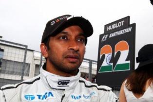 Narain Karthikeyan and HRT in 2012 (courtesy: HRT)