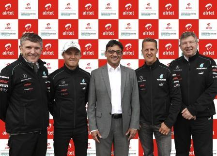 Airtel And Mercedes AMG Petronas Partner For Indian GP