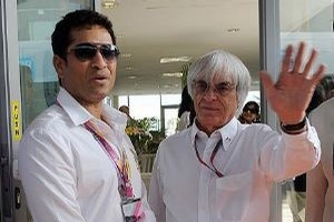 Sachin Tendulkar and Bernie Ecclestone (courtesy: Firstpost)