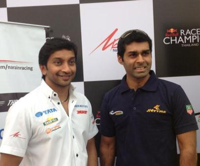 Narain Karthikeyan and Karun Chandhok (Courtesy: Twitter)