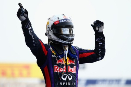 Sebastian Vettels Wins The 2013 Bahrain GP (Courtesy: Red Bull Racing)