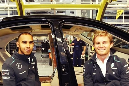 Lewis Hamilton & Nico Rosberg (courtesy: Google)
