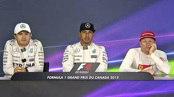Kimi Raikkonen In The Press Conference - 2015 Canadian GP