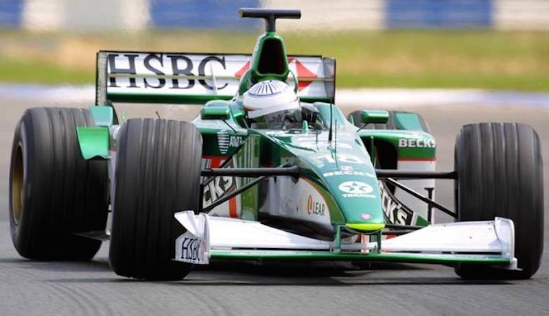 Narain Karthikeyan testing for Jaguar Racing