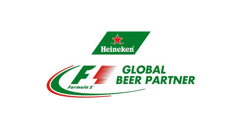 Heineken - F1's Global Beer Partner (courtesy: Formula 1)