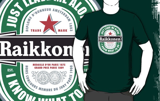 Heineken & Raikkonen (courtesy: Pinterest)
