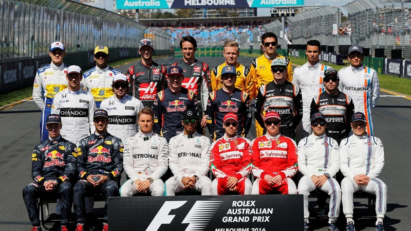 The class of 2016 F1 drivers (courtesy: Formula 1)