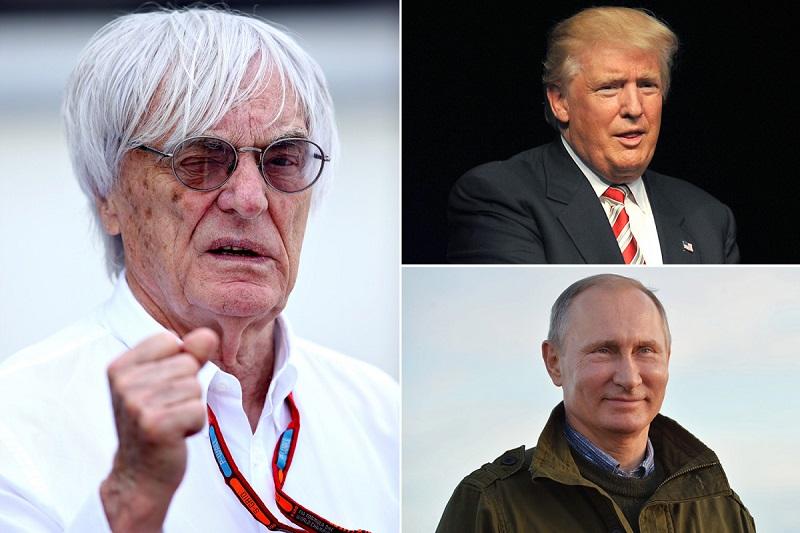 Bernie Ecclestone, Vladimir Putin, Donald Trump (courtesy: The Sun)