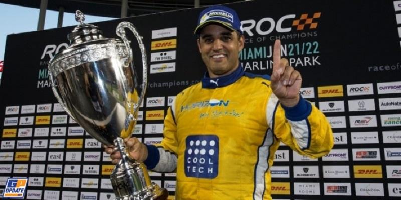 Juan Pablo Montoya - 2017 Race of Champions Champion (courtesy: F1 Technical)