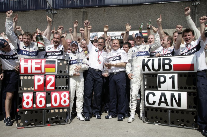 Sunday, June 8, 2008 Canadian Grand Prix Montreal: The BMW Sauber F1 Team celebrate their One Two victory.