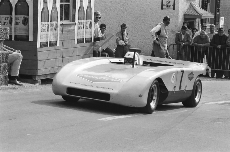 1970 Kerenzerbergrennen Peter Sauber in his Sauber C1