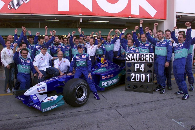 2001 Team Sauber Petronas 4th place in the Formula 1 Constructors championship